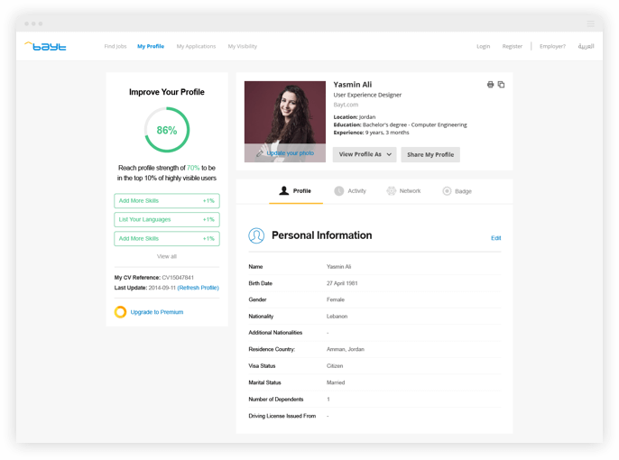create your online profile baytcom - Make Profile